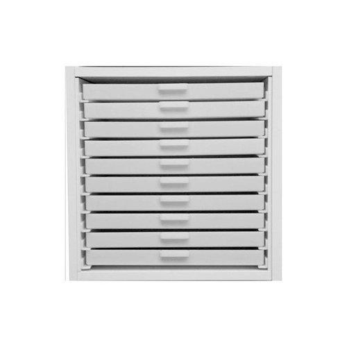 Best Craft Organizer - K1 - Ten 1 Inch Storage Drawers for Ikea Kallax(Expedit) Unit