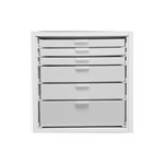 Best Craft Organizer - K4 - One 3 Inch, Two 2 Inch and Three 1 Inch Storage Drawers for Ikea Kallax Unit