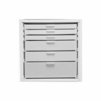 Best Craft Organizer - K4 - One 3 Inch, Two 2 Inch and Three 1 Inch Storage Drawers for Ikea Kallax(Expedit) Unit