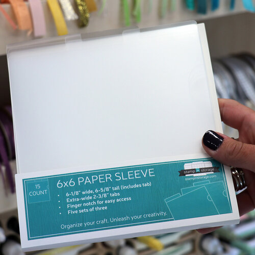 Stamp N Storage - 6 x 6 Paper Sleeve - 15 Pack