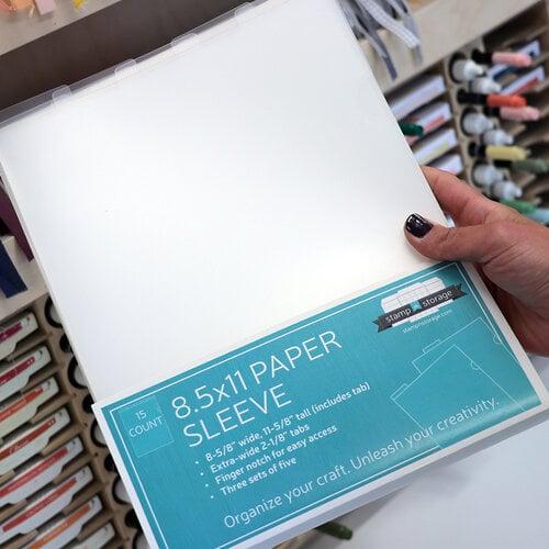 Stamp N Storage 8.5 x 11 Paper Sleeve - 15 Pack