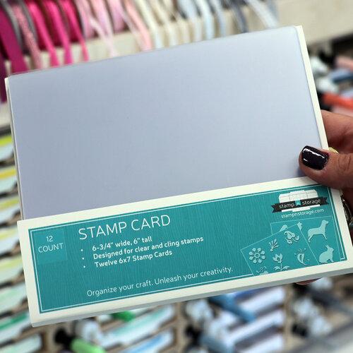 Stamp N Storage - 6 x 7 Stamp Card - 12 Pack