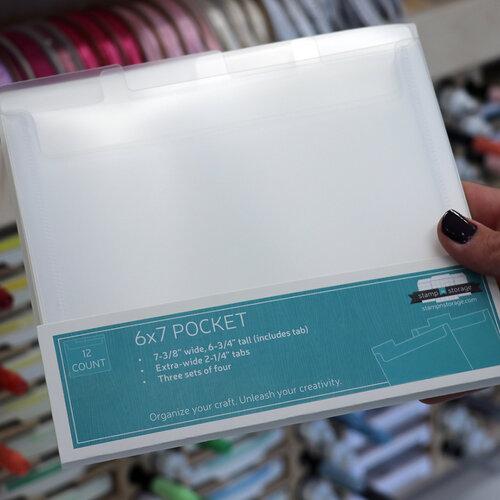 Stamp N Storage - 6 x 7 Storage Pocket - 12 Pack