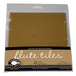 Canvas Corp - 6 x 6 Paper Pack - E-Flute Corrugated Tiles - Kraft