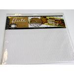 Canvas Corp - 12 x 12 Corrugated Paper - E-Flute Tile - White