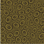 Canvas Corp - Black and Kraft Collection - 12 x 12 Paper - Swirls