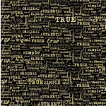 Canvas Corp - Black and Kraft Collection - 12 x 12 Paper - Fresh Words Reverse