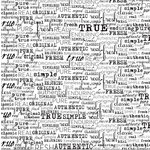Canvas Corp - Black and White Collection - 12 x 12 Paper - Fresh Words