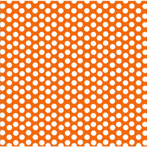 Canvas Corp - Brights Collection - 12 x 12 Paper - Orange and White Dot Reverse