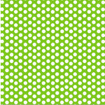 Canvas Corp - Brights Collection - 12 x 12 Paper - Lime Green and White Dot Reverse