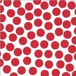 Canvas Corp - Brights Collection - 12 x 12 Paper - Red and White Big Dot