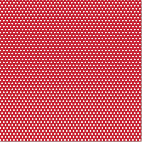 Canvas Corp - Brights Collection - 12 x 12 Paper - Red and White Mini Dot Reverse