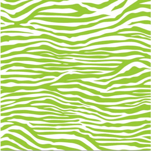 Corp Brights Collection 12 X 12 Paper Lime Green And White Zebra