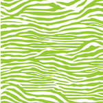 Canvas Corp - Brights Collection - 12 x 12 Paper - Lime Green and White Zebra
