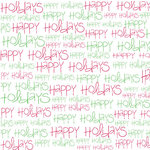 Canvas Corp - Christmas - 12 x 12 Paper - Happy Holidays on White