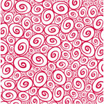 Canvas Corp - Red and White Collection - 12 x 12 Paper - Swirls