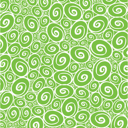 Corp Lime Green And White Collection 12 X 12 Paper Swirls Reverse