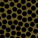 Canvas Corp - Black and Kraft Collection - 12 x 12 Paper - Big Dot