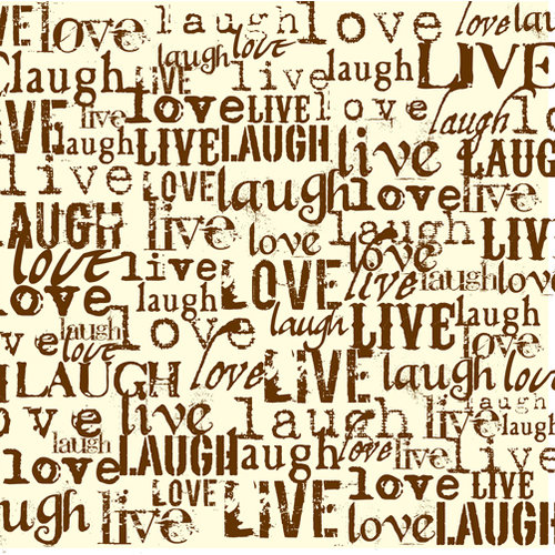 Canvas Corp - Chocolate and Vanilla Collection - 12 x 12 Paper - Live Love Laugh