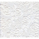 Canvas Corp - Handmade Collection - 12 x 12 Paper - Embossed Floral White