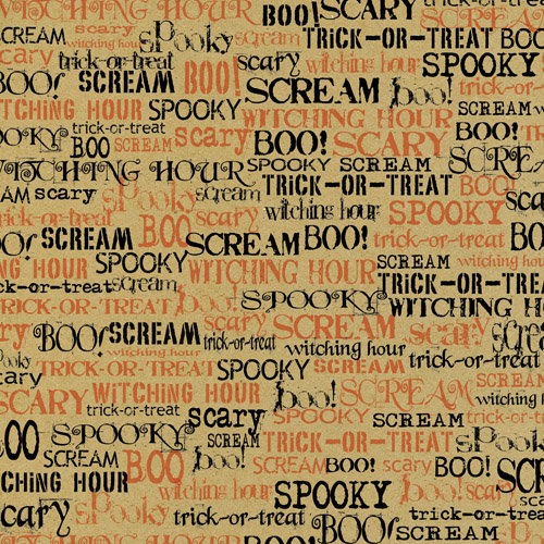 canvas corp halloween 12 x 12 paper spooky words on kraft