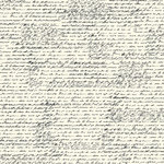 Canvas Corp - Black and Ivory Collection - 12 x 12 Paper - French Script