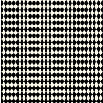 Canvas Corp - Black and Ivory Collection - 12 x 12 Paper - Diamonds