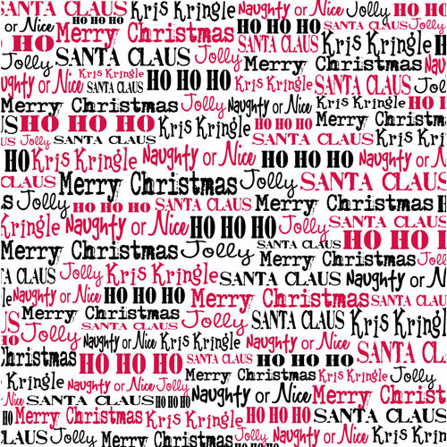 Canvas Corp - Christmas - 12 x 12 Paper - St. Nick Words on White