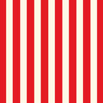 Canvas Corp - Red and Ivory Collection - 12 x 12 Paper - Big Stripe