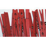 Canvas Corp - Decorative Clothespins - Red