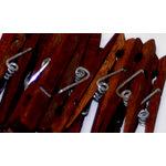 Canvas Corp - Decorative Clothespins - Merlot