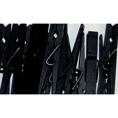 Canvas Corp - Decorative Clothespins - Black