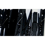 Canvas Corp - Decorative Clothespins - Black