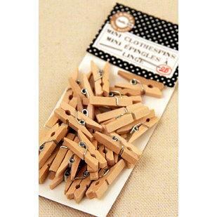 Canvas Corp - Mini Clothespins - Natural