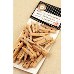 Canvas Corp - Mini Clothespins - Natural