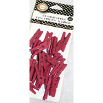 Canvas Corp - Mini Clothespins - Raspberry