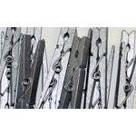 Canvas Corp - Decorative Clothespins - Silver