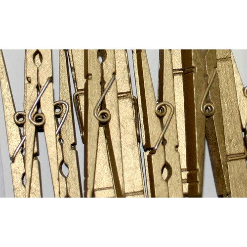 Canvas Corp - Decorative Clothespins - Gold