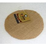 Canvas Corp - Burlap Shapes - Round
