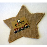 Canvas Corp - Burlap Shapes - Star