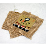 Canvas Corp - Burlap Shapes - Mini - Square