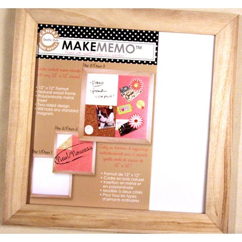 Canvas Corp - MakeMemo Collection - Wooden Frame with Metal Board - Natural - 12 x 12