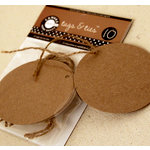 Canvas Corp - Tags and Ties - Round - Kraft