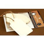 Canvas Corp - Tags and Ties - Scallop - Ivory