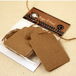 Canvas Corp - Tags and Ties - Scallop - Kraft