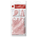Chatterbox - Box Letters - Self-Adhesive Textured Chipboard Alphabet, Numbers and Shapes - Rosey, CLEARANCE