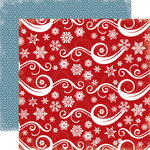 Carta Bella Paper - All Bundled Up Collection - Christmas - 12 x 12 Double Sided Paper - Snowflake Swirl