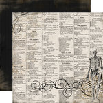 Carta Bella Paper - All Hallow's Eve Collection - Halloween - 12 x 12 Double Sided Paper - Skeleton