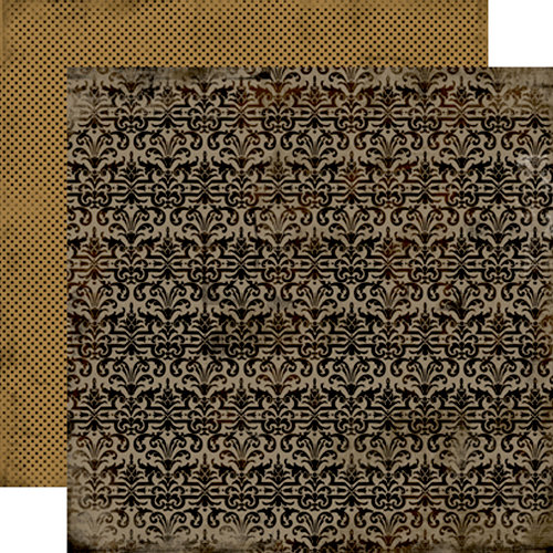 Carta Bella Paper - All Hallow's Eve Collection - Halloween - 12 x 12 Double Sided Paper - Spooky Damask