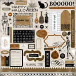 Carta Bella Paper - All Hallow's Eve Collection - Halloween - 12 x 12 Cardstock Stickers - Elements